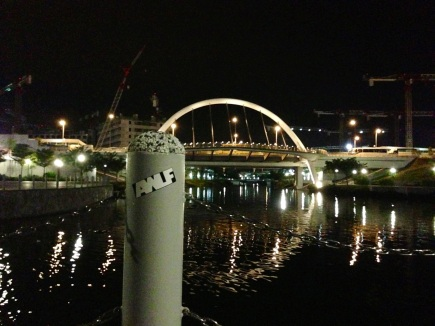 Marc in Singapore sent us a photo of an AWLF sticker in Singapore!